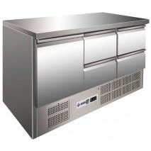 Kühltisch KTM304 - 1 Tür und 4 Schubladen  - GN 1/1