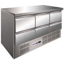 Kühltisch KTM306 - 6 Schubladen  - GN 1/1