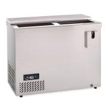 KBS Edelstahl Flaschentruhe Getränkekühltruhe AL 100, Edelstahl, mit Stiller Kühlung und keine Beleuchtung, 302101