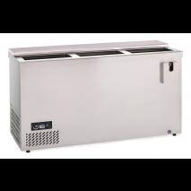 KBS Edelstahl Flaschentruhe Getränkekühltruhe AL 150, Edelstahl, mit Stiller Kühlung und keine Beleuchtung, 302151