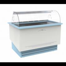 KBS Umluft Speiseeis-Verkaufstheke Divina Gelato 13, weiss und blau, mit Umluftkühlung und LED-Beleuchtung, 462113