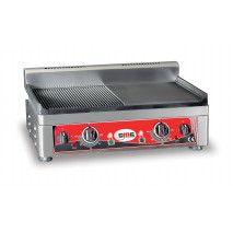 GMG Elektro Grillplatte 52x24 glatt/gerillt