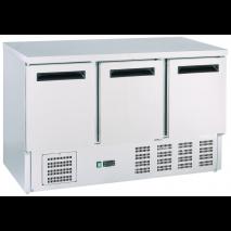 GastroStore - Kühltisch - 3 Türen - GN1/1 - Edelstahl - energiesparend