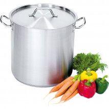 Suppentopf hohe Form 36,6 Liter mit Deckel
