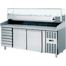 Pizzakühltisch 2000 inkl. Kühlaufsatz 2000 + Teigschubladen