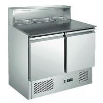 Pizzakühltisch, 2 Türen, 285 L, 5x 1/6 GN