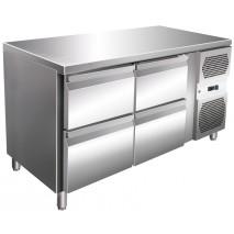 GGG - Kühltisch VIP-2C4.01 - 4 Schubladen - GN1/1 - Edelstahl - energiesparend