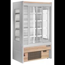 KBS - Wandkühlregal Diego 120 mit Schiebetüren - Umluftkühlung