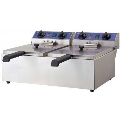 Elektro-Doppel-Fritteuse 10+10 Liter, ECO