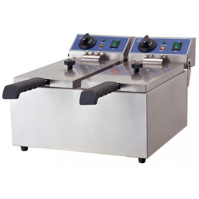 GGG Elektro-Doppel-Fritteuse 6+6 Liter, ECO, WF-062