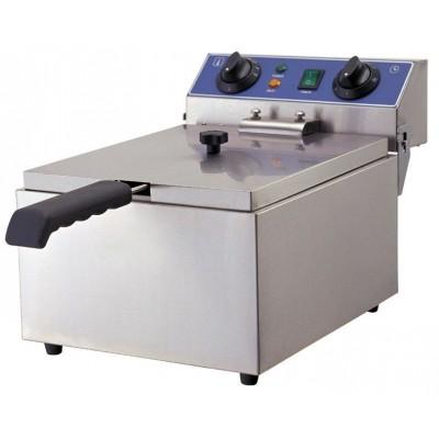 GGG Elektro-Fritteuse 10 Liter, Edelstahl, ECO,  Überhitzungsschutz, WF-101