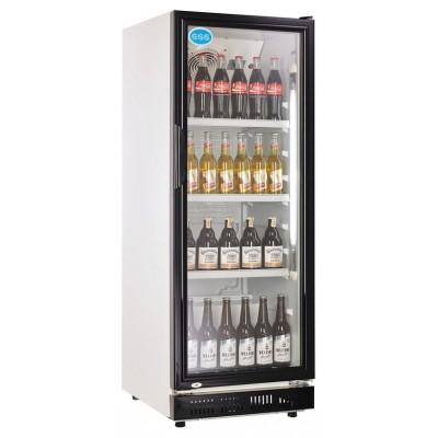 Glastür Getränkekühlschrank 230 Liter schwarz Umluft