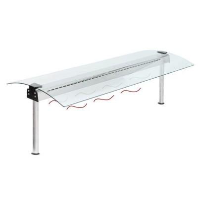Glasaufbau - Wärmestrahler - beidseitig abgerundet - GN2/1 - 772mm