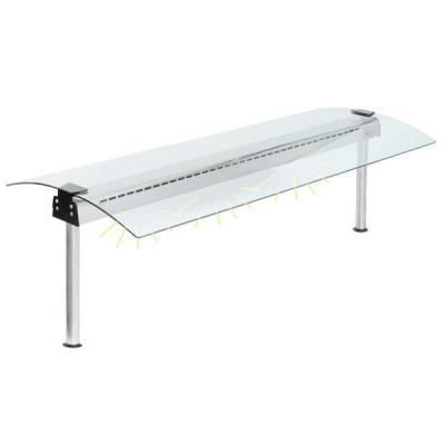Glasaufbau - beidseitig abgerundet - GN2/1 - 772mm