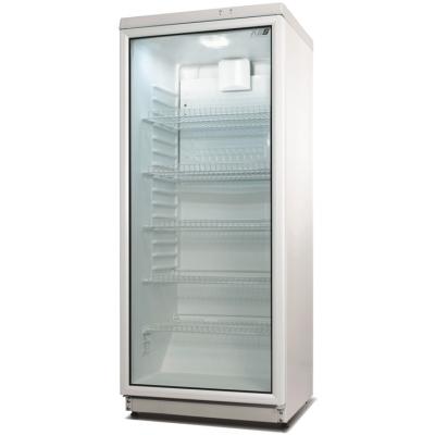Glastürkühlschrank 290 Liter Umluft Gewerbe