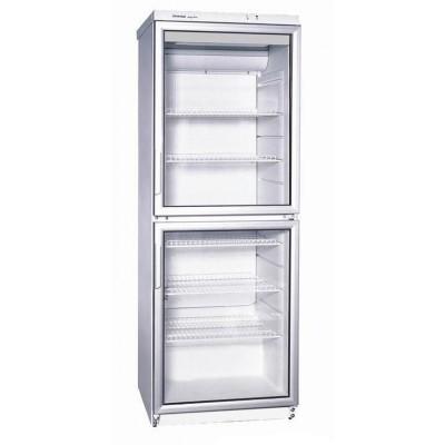 KBS Glastürkühlschrank CD 350, weiss, mit Umluftkühlung und LED-Beleuchtung, 9190003