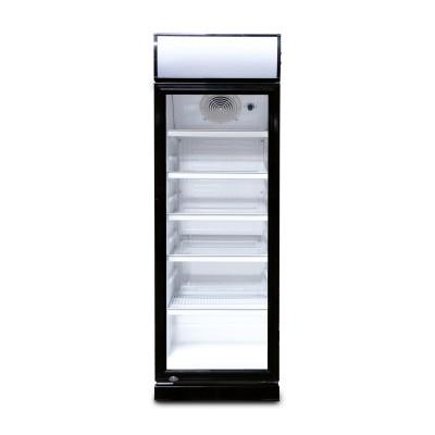 Glastür Flaschenkühlschrank 230 Liter schwarz Umluft