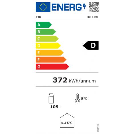 KBS Glastürkühlschrank KBS 145 U, mit Stiller Kühlung und LED-Beleuchtung, 302145