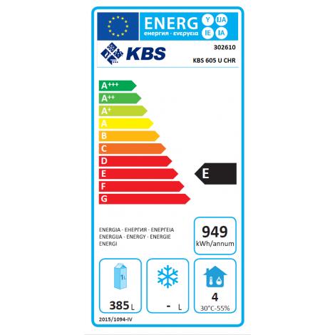KBS Umluft Gewerbekühlschrank KBS 605 U CHR, Edelstahl, mit Umluftkühlung und keine Beleuchtung, 302610