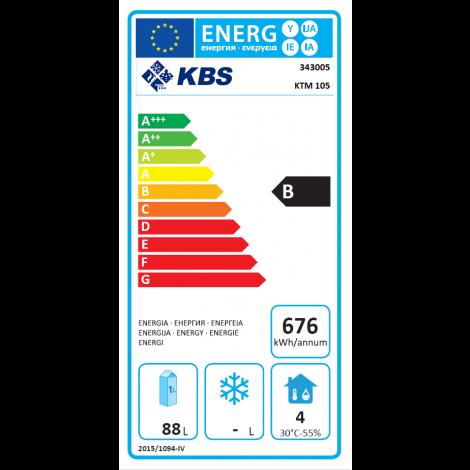 KBS - Kühltisch KTM 105 - 1 Tür - GN1/1 - Edelstahl - energiesparend 343005