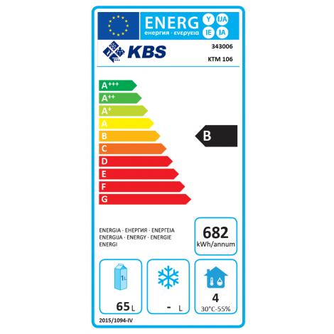KBS - Kühltisch KTM 106 - 2 Schubladen - GN1/1 - Edelstahl - energiesparend