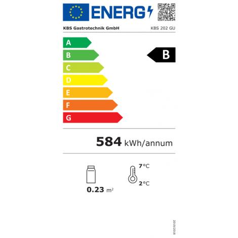 KBS Glastürkühlschrank KBS 202 GU, weiss, mit Umluftkühlung und Beleuchung, 347208