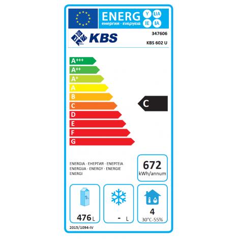 KBS Umluft Gewerbekühlschrank KBS 602 U, weiss, mit Umluftkühlung und keine Beleuchtung, 347606