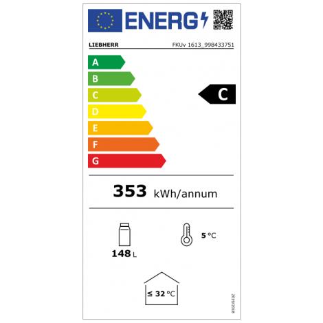 Liebherr Glastürkühlschrank FKUv 1613, weiss, mit Umluftkühlung und LED-Beleuchtung, 40511613