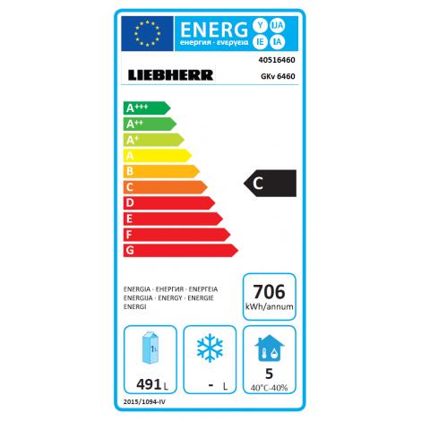 KBS Umluft Gewerbekühlschrank GKv 6460, Edelstahl, mit Umluftkühlung und keine Beleuchtung, 40516460