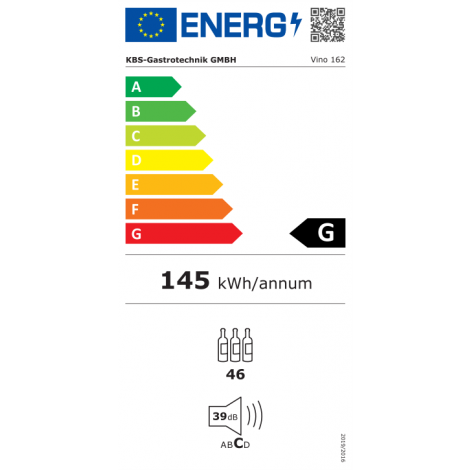 KBS Weinkühlschrank 2 Temperaturzonen Vino 162, Edelstahl, mit Umluftkühlung und LED-Beleuchtung, 529162