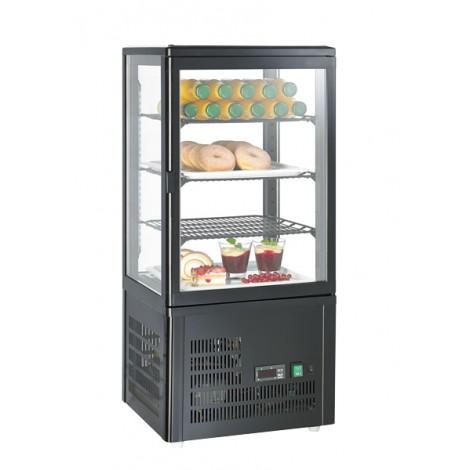 Aufsatzgetränkekühler, schwarz, 68 Liter