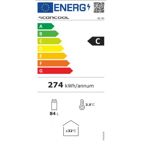KBS Glastürkühlschrank SCC 81 GDU, weiss, mit Umluftkühlung und LED-Beleuchtung, 915081