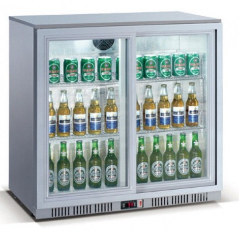 GGG Backbar, silber, mit Umluftkühlung und LED-Beleuchtung, LG-208S