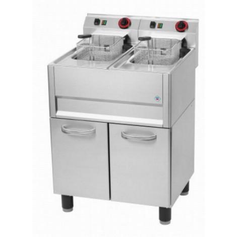 Elektro Fritteuse 2 Becken 8 Liter 400V