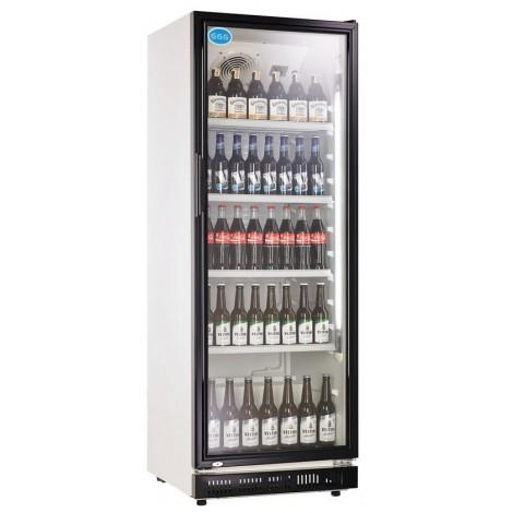 Getränkekühlschrank 360 Liter schwarz Umluftkühlung
