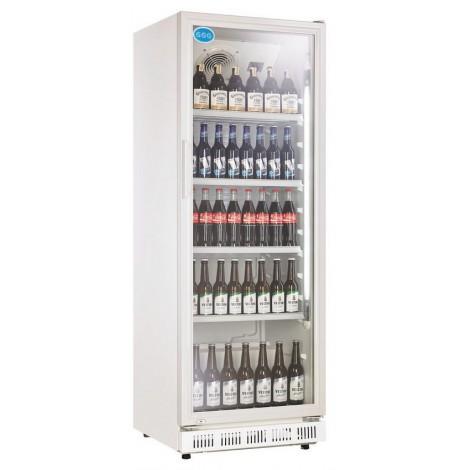 GGG Glastürkühlschrank, weiss, mit stiller Kühlung und LED-Beleuchtung, LG-360