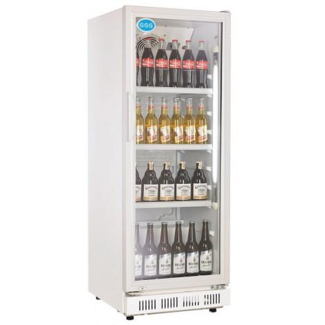 GGG Glastürkühlschrank, weiss, mit stiller Kühlung und LED-Beleuchtung, LG-310