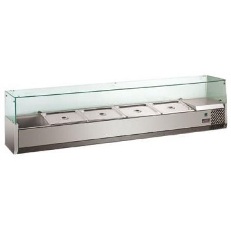Kühlaufsatz VRX 2000 8x GN1/3 mit Glasaufsatz
