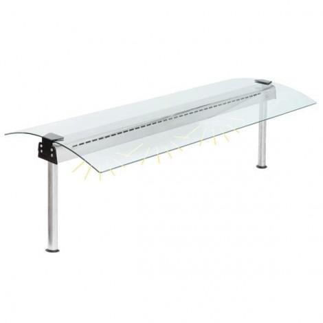 Glasaufbau mit Beleuchtungselement  GN4/1 - 1422mm