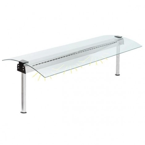 Glasaufbau mit Beleuchtungselement  GN5/1 - 1747mm