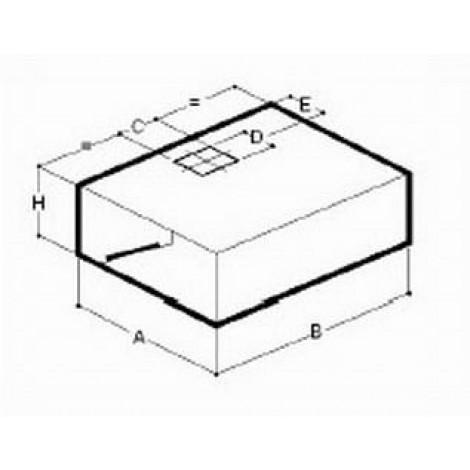 Kasten-Wandhaube Typ B 1200 x 1100