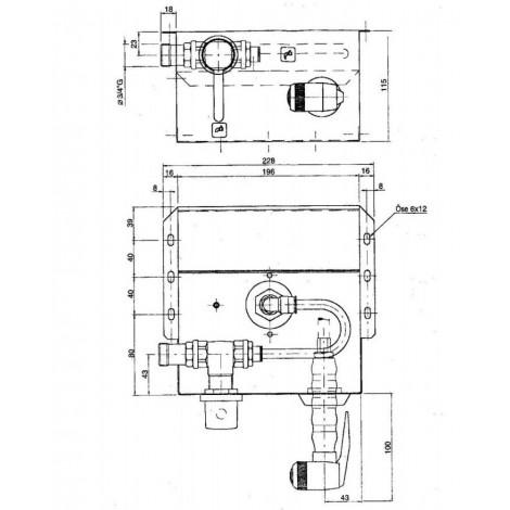 Klarco Waschbrause Midi Reel für Untertischmontage