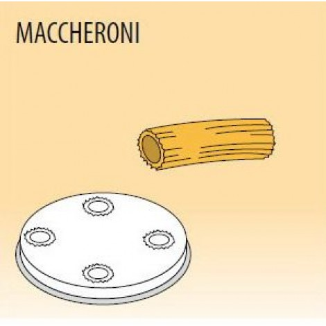 Nudelform Maccheroni, für Nudelmaschine MPF/2,5 und MPF/4