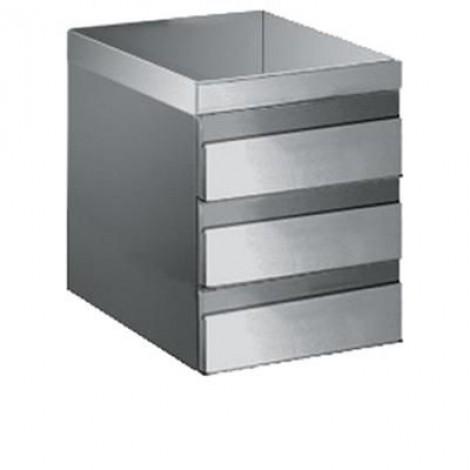 Schubladenblock mit 3 Schubladen, 700mm Tiefe