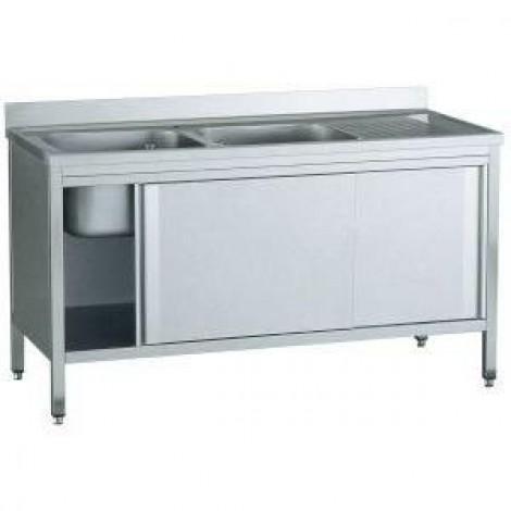 Spülschrank Pro 1600x700 - 2 Becken links
