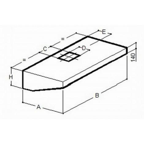 Wandhaube 2800x900 Pro A