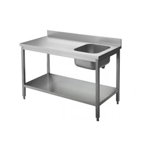 Cheftisch Pro 1600x600, Becken links