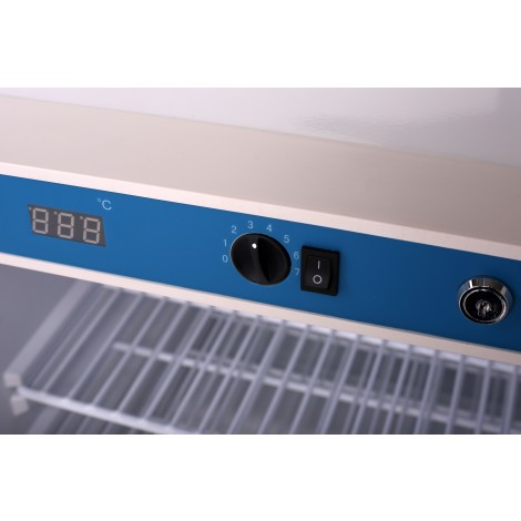 KBS Glastürkühlschrank 602 GU, weiss, mit Umluftkühlung und Beleuchtung, 347608
