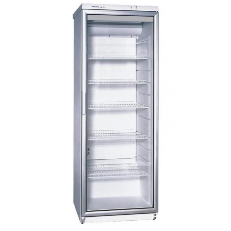 KBS Glastürkühlschrank CD 350, weiss, mit Umluftkühlung und LED-Beleuchtung mit Schloß, 9190014