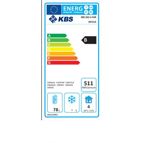 KBS Gewerbekühlschrank KBS 202 U CHR, Edelstahl, mit Umluftkühlung, 347215
